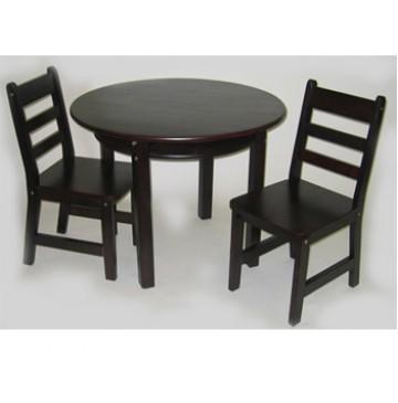 Lipper Child's Round Table & 2 Chairs Set - Espresso - 524e-360x365.jpg