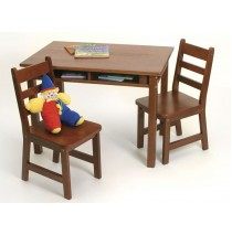 Lipper Child's Rectangle Table & 2 Chairs Set - Cherry