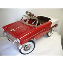 1955 Classic Convertible Pedal Car | Red and White