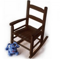 Lipper Child's Rocking Chair - Espresso