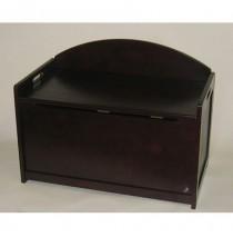 Lipper Espresso Toy Chest & Toy Box - Espresso
