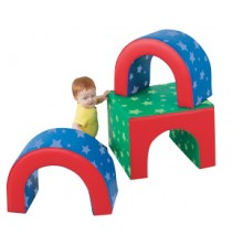 Tunnel Trilogy Soft Play Climber by Childrens Factory