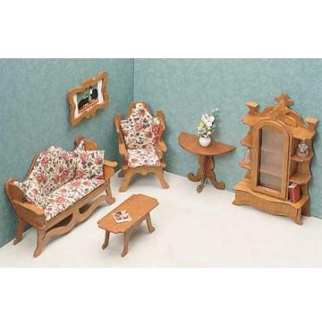 Wood Dollhouse Furniture Kits - The Living Room Furniture - 7203-Living-Room-360x365.jpg