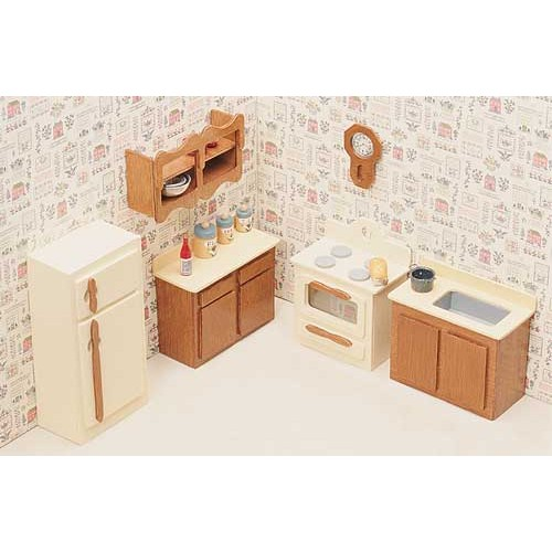 Miniature furniture kits unfinished kitchen furniture dollhouse furniture Dollhouse wooden furniture