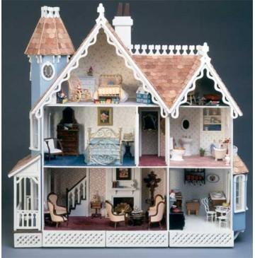 The McKinley Dollhouse Kit by Greenleaf - 8009-McKinley-Painted-Front-360x365.jpg