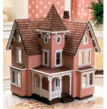 The Fairfield 1/2 Inch Scale Wood Dollhouse Kit by Greenleaf