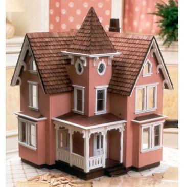 The Fairfield 1/2 Inch Scale Wood Dollhouse Kit by Greenleaf - 8015-Fairfield-Painted-F-360x365.jpg