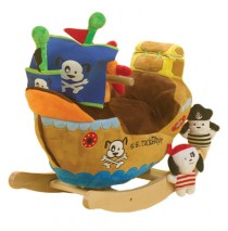 Ahoy Doggie Pirate Ship Rocker by Rockabye