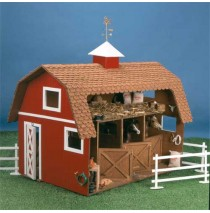 The Wildwood Stable Wooden Dollhouse Kit by Corona Concepts