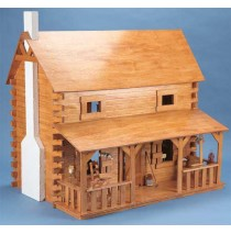 The Creekside Cabin Wooden Dollhouse Kit by Corona Concepts