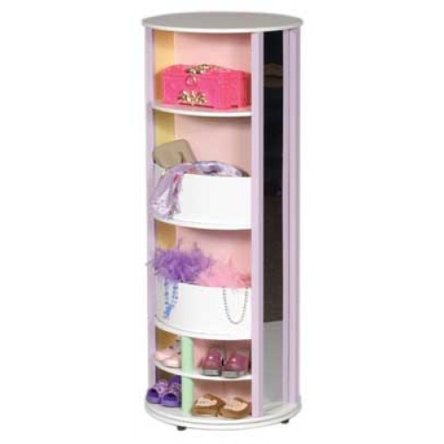 GuideCraft Dress Up Carousel Storage Unit   Pastel   Back View Carousel  Storage ...