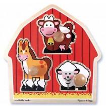 Barnyard Animals Jumbo Knob Puzzle Melissa & Doug