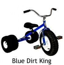 Dirt King Childs Dually Tricycle In Blue Ages 3 - 6