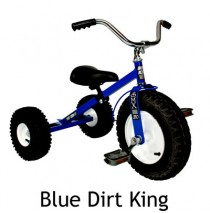 Dirt King Childrens Tricycle Blue Ages: 3 - 6