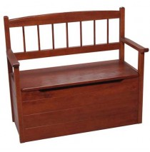 Deacon Style Bench & Toy Box on Casters Cherry