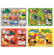 Mix 'n Match Peg Puzzle 4 Piece Set