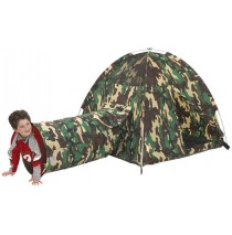 Command HQ Camouflage Play Tent & Tunnel Combo