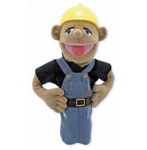 Melissa & Doug Hand Puppet - Construction Worker