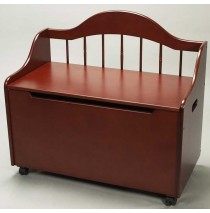 Deacon Style Toy Chest & Bench on Casters in Cherry