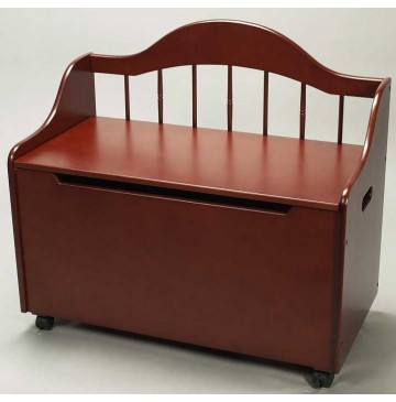 Deacon Style Toy Chest & Bench on Casters in Cherry - Deacon-Toy-Chest-Cherry-360x365.jpg