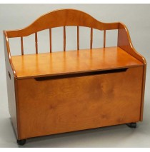 Deacon Style Toy Chest & Bench on Casters in Honey