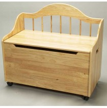 Deacon Style Toy Chest & Bench on Casters in Natural