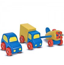 Melissa & Doug First Vehicles Set Wooden Toy