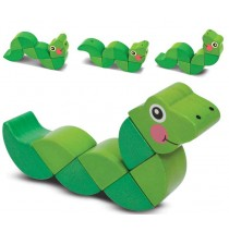 Melissa & Doug  	Wiggling Worm Grasping Toy Wooden Toy