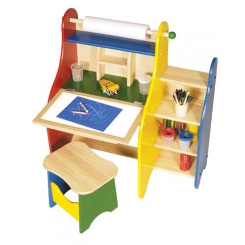 Guidecraft Activity Desk And Art Easel Set For Kids