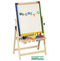 Guidecraft 4 in 1 Floor Easel - Chalkboard