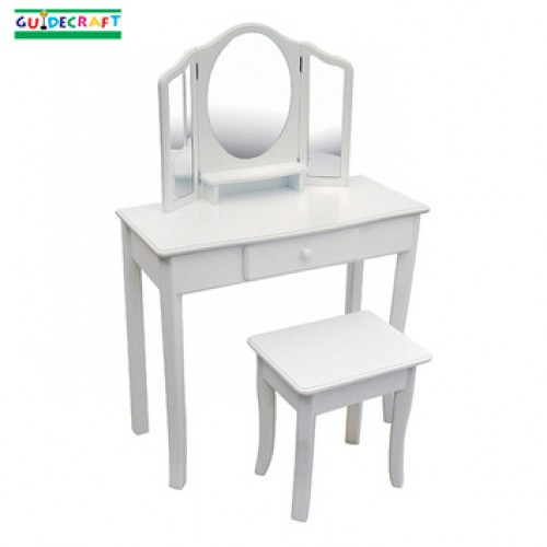 Girls classic white vanity stool for Coiffeuse meuble enfant