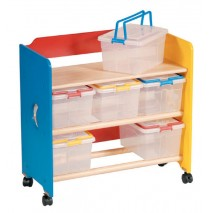 Guidecraft Moon & Stars, See Store & Take-Along Storage Cart