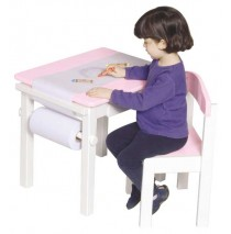 Guidecraft Art Table & Chair Set - Pink