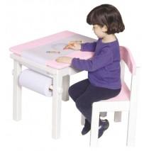Guidecraft Art Table & Chair Set - Pink
