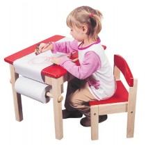 Guidecraft Art Table & Chair Set - Red