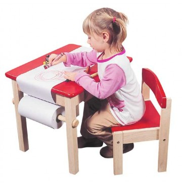 Guidecraft Art Table & Chair Set - Red - G98049-360x365.jpg