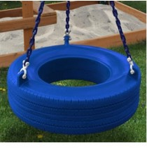 Gorilla Playsets 360 Tire Swing - Blue