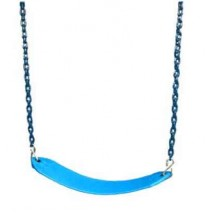 Gorilla Playsets Deluxe Swing Belt with Coated Chain - Blue