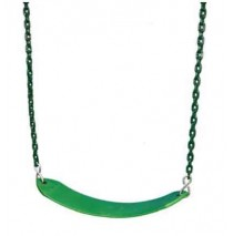 Gorilla Playsets Deluxe Swing Belt with Coated Chain - Green