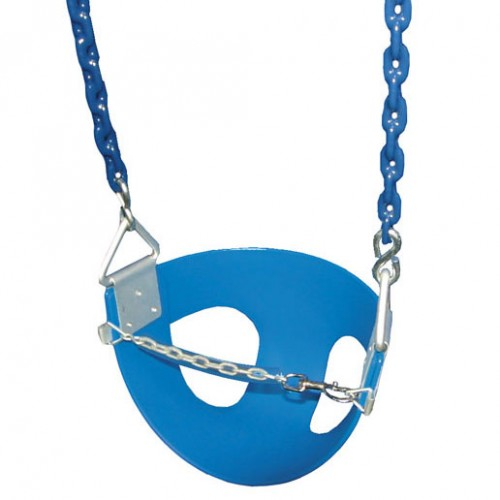 Gorilla Playsets Toddler Half Bucket Swings Blue