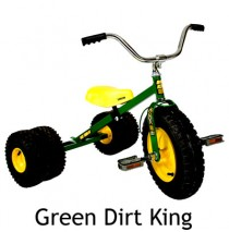 Dirt King Childs Dually Tricycle In Green Ages 3 - 6