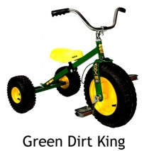 Dirt King Childrens Tricycle Green Ages 3 - 6