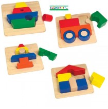 Guidecraft Chunky Puzzles set of 4