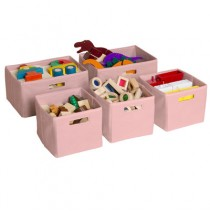 Pink Storage Bins 5 QTY