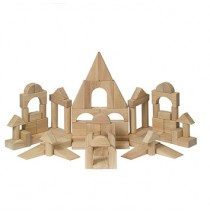 Hardwood 76 Piece Unit Block Set by Guidecraft