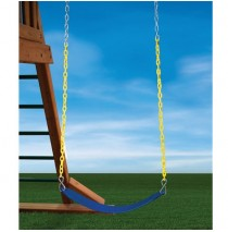 Heavy Duty Swing Belt in Blue With Yellow Chain