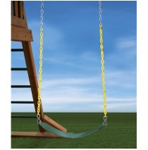 Heavy Duty Swing Belt in Green With Yellow Chain