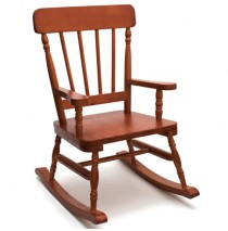 Lipper High Back Pine Rocker - Cherry Rocking Chairs