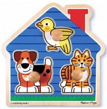 House Pets Jumbo Knob Puzzle Melissa & Doug