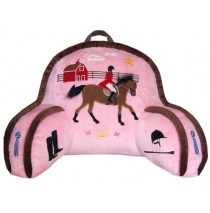 Carstens English Pink Rider Bedrest Pillow For Kids